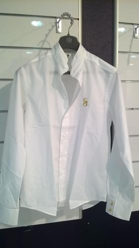 chemise blanche griffe dorée