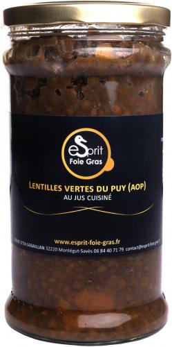 Lentilles vertes du PUY (AOP) au jus cuisiné 700 g