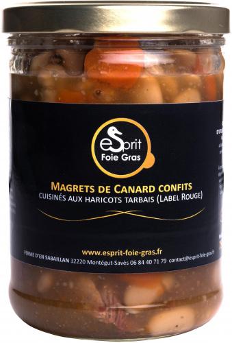 Magrets de canard confits cuisinés aux haricots Tarbais (Label Rouge) 750 g