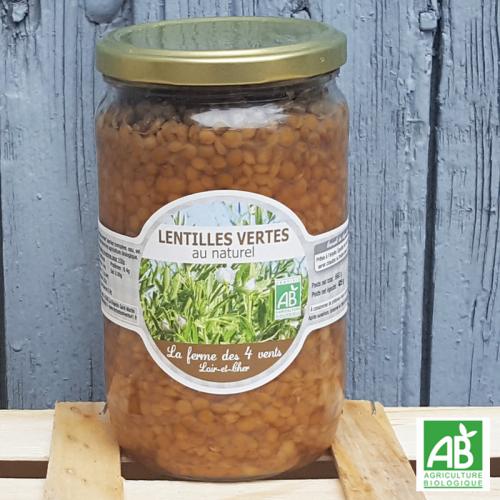 Lentilles vertes au naturel (425g)