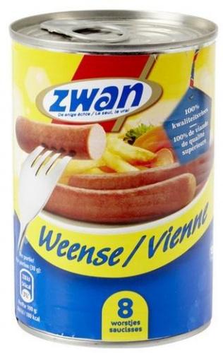 Zwan 8 saucisses de Vienne 420 gr