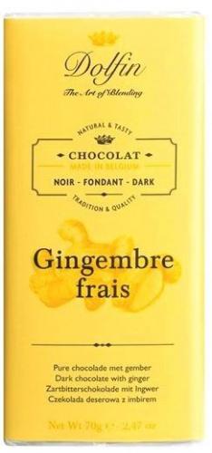 Dolfin chocolat noir gingembre frais 70 gr