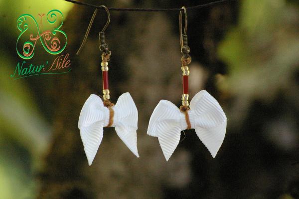Boucles d'Oreille Noeud blanc