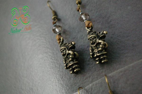 Boucles d'Oreille perles breloque Père Noël