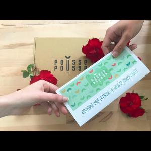 Carte Cadeau Maxi Pousse Zero Dechet 4mois