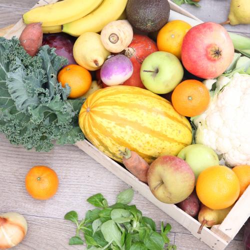Grand mélange de légumes & fruits (+ 250 g de fruits secs bio)