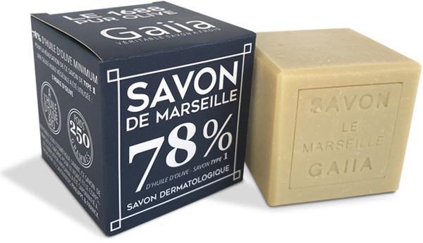 CUBE SAVON DE MARSEILLE / PUR OLIVE / 250 GR