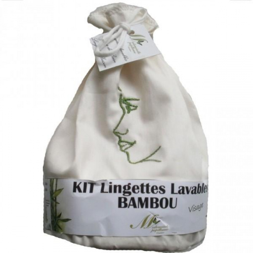 Kit 12 lingettes Visage Bambou + Pochon + Filet de Lavage