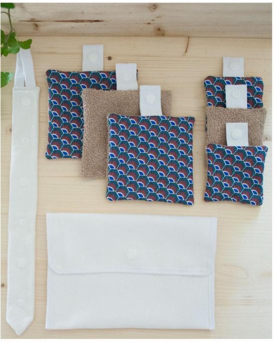 Kit 6 lingettes Coton Hestia N°1 {Série Limitée} avec sa Cravate + Pochette