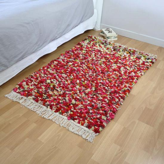 Tapis de chambre en tissus upcyclés - Anfa (160×90)