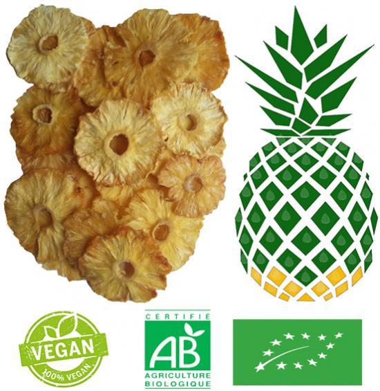 Ananas séché bio 1kg
