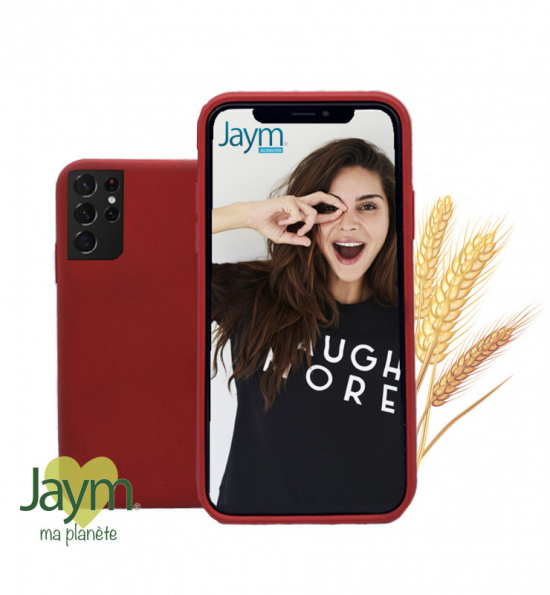 COQUE ECO-FRIENDLY ROUGE POUR SAMSUNG GALAXY S21 ULTRA - JAYM®