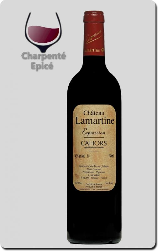 Château Lamartine Cahors AOP - Cuvée Expression 2013