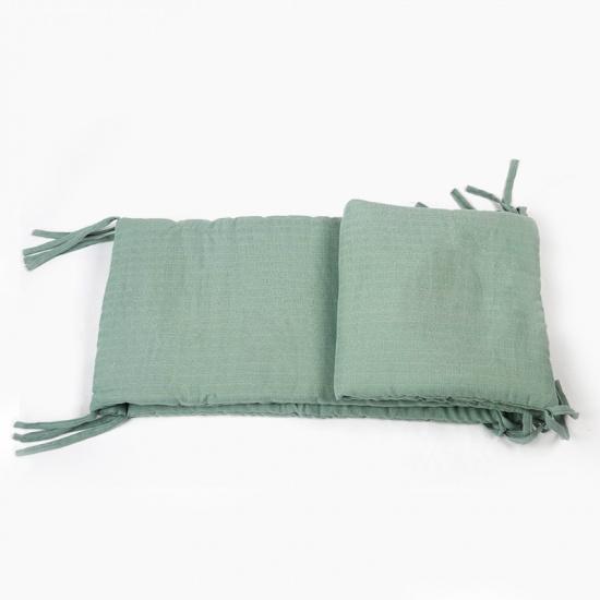 Tour de lit en Coton Bio Rhénan - Vert